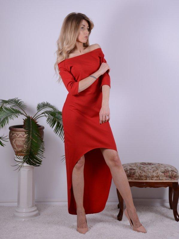 Sukienka CZERWONA asymetryczna