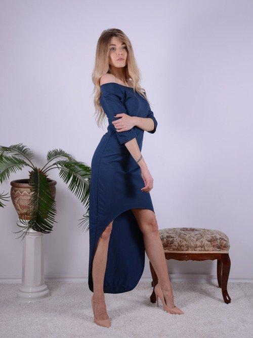 Sukienka GRANAT asymetryczna